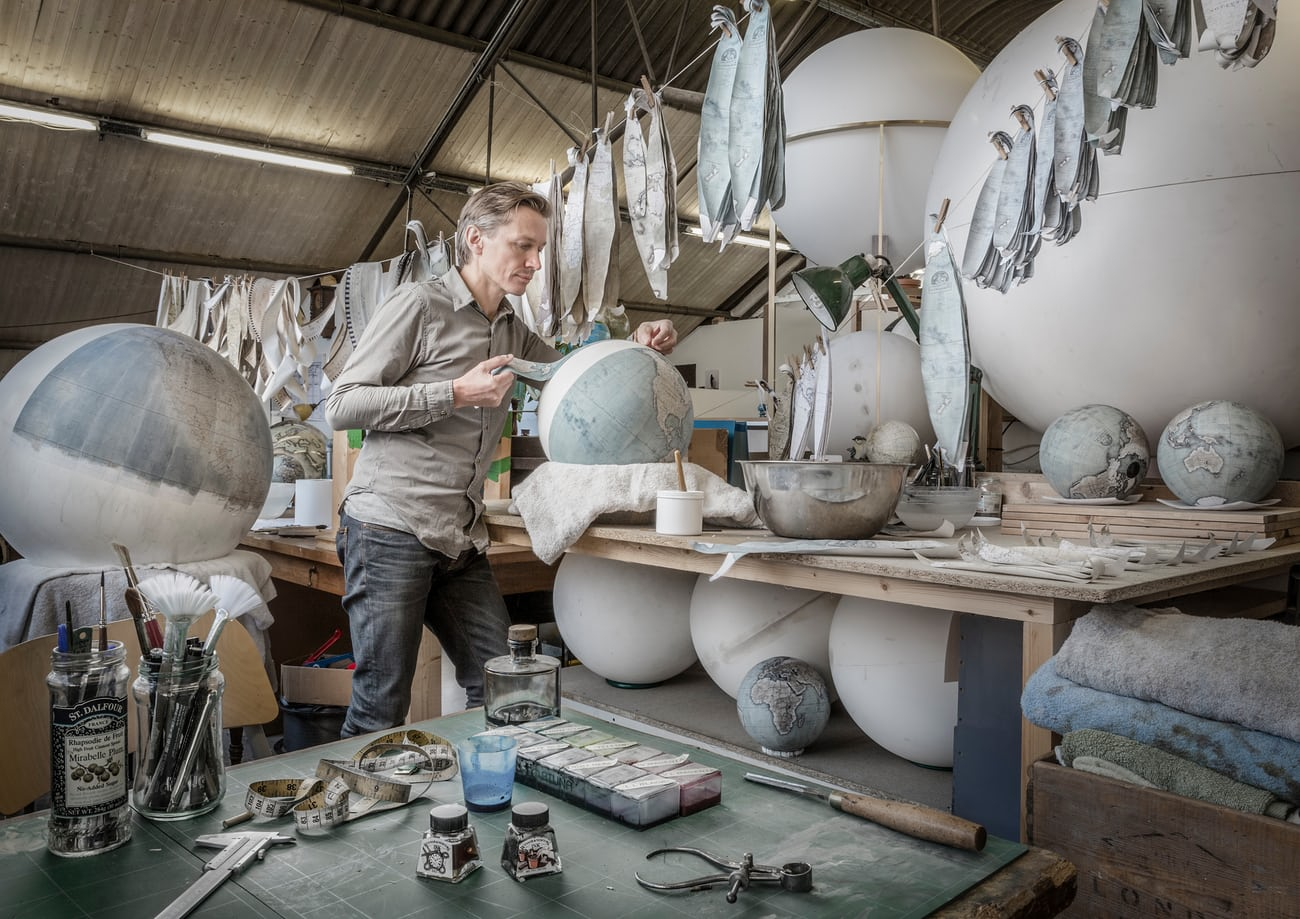 Behind the scenes at London's globe-making workshop – a photo essay