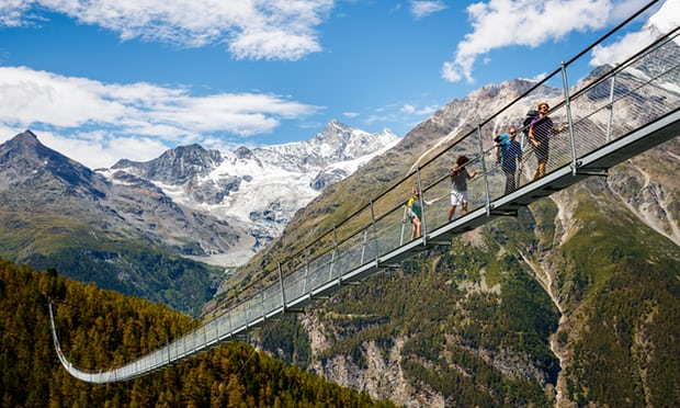 World's longest pedestrian suspension bridge opens in the Swiss Alps