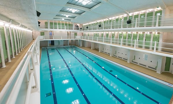 Striking paris art deco swimming pool reopens julian worker travel writing Kettering swimming pool timetable