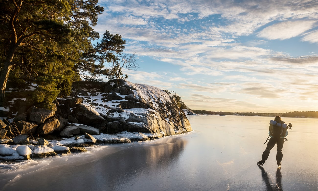 Skating on thick ice: touring Sweden's frozen lakes