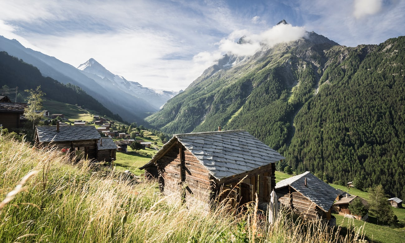 Swiss Alps: old huts to chic chalets