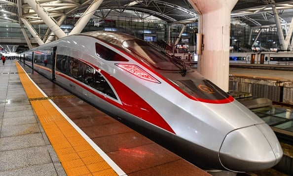 China's new high-speed train from Hong Kong to Guangzhou
