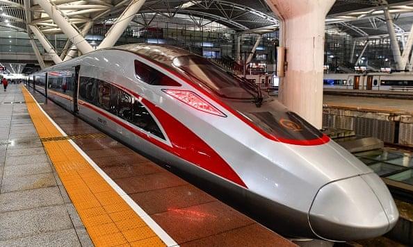 China's new high-speed train from Hong Kong to Guangzhou