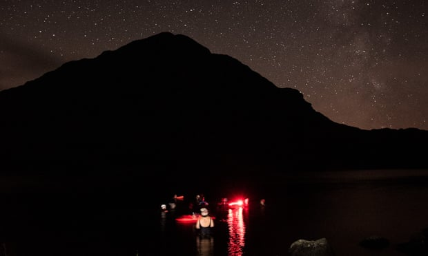 Night swimming in Snowdonia
