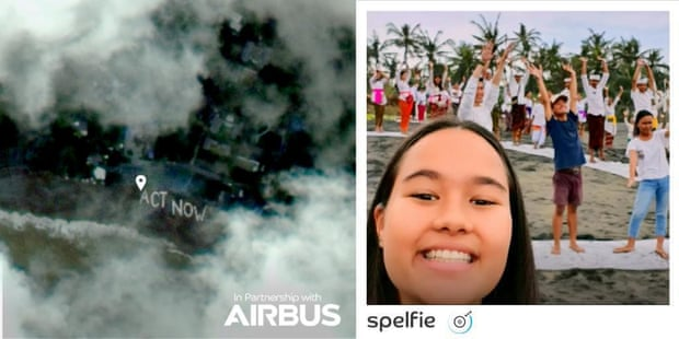 The final selfie frontier: app takes pictures from 36,000km up in space